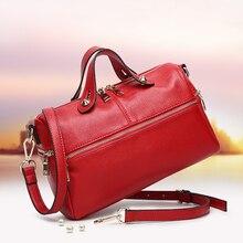 Теплые сумка женщин осень зима натуральная кожа сумки Boss 2 ведро сумочки сумка