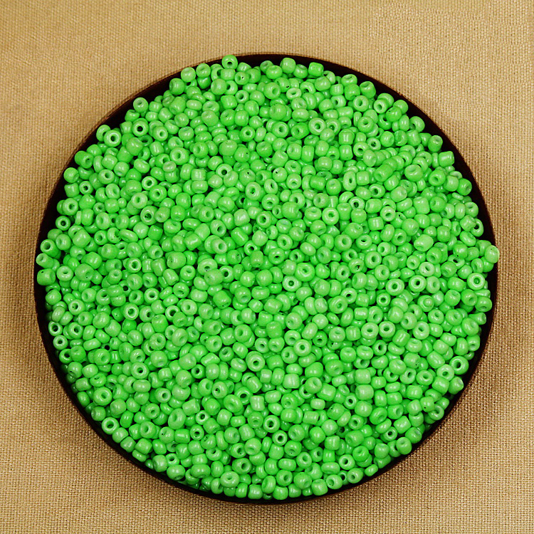 Beads Factory Frice 80g/lot Neon Colour Green 3mm Glass Seed Loose Spacer Beads For Jewelry Making & Diy Craft Complete In Specifications