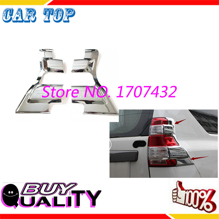 Good! Free Shipping! ABS Chrome Trim Styling Rear Tail Light Lamp Cover Car Decoration Accessories For Toyota PRADO 2014 2pcs 24 inch 20242629 direct aluminum frame rod universal wheel luggage suitcase board box bags and one generation ec