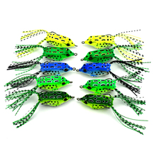 10pcs/lot Frog Fishing Lure Soft Plastic Bait With Hook Top Water Fishing Tackle