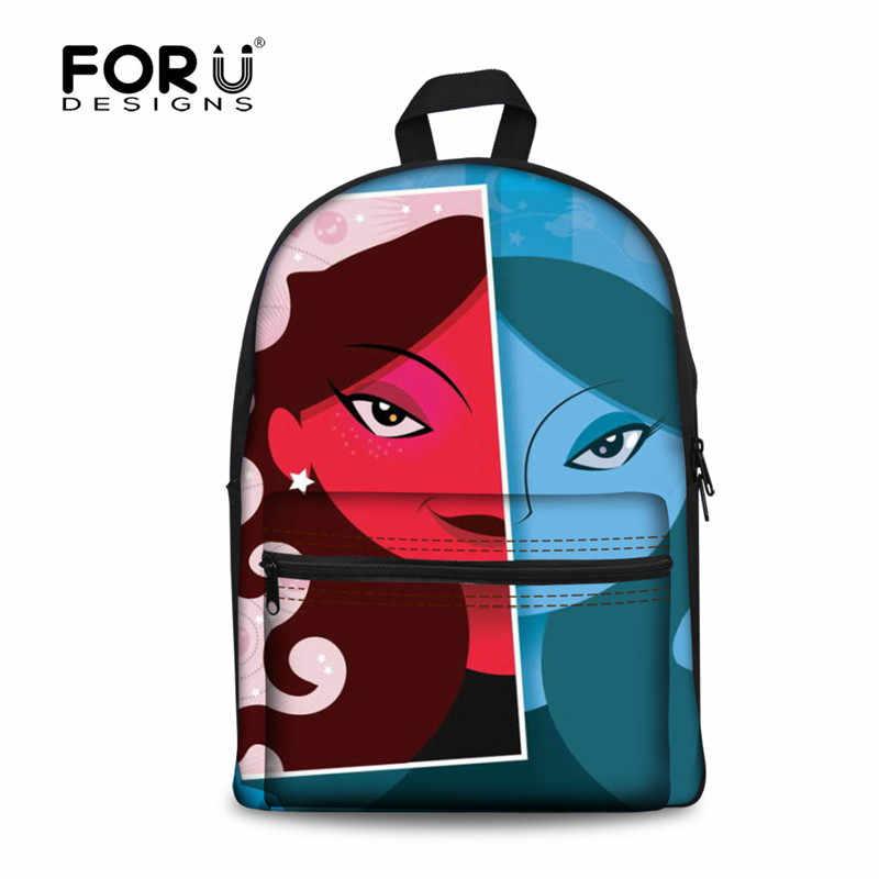 FORUDESIGNS/граффити детский портфель для школы, забавные девочки/мальчики, Холщовый сумка для книг, дети печать Наплечная школьная сумка портфель Sac enfant