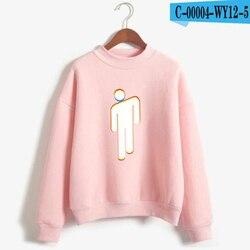 New Fashion Billie Eilish Pink Hoodie Women Long Sleeve Turtleneck Sweatshirt K-POP Hip Hop Pullover Jumper Harajuku Tracksuit 3