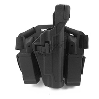 Tactical Leg Holster Right Thigh Paddle Belt Level 3 Lock Duty Pistol Gun Holster Magazine Pouch COLT 1911 Type