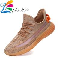 Flyknit Men Casual Shoes Men Sneakers Breathable Running Shoes For Men Trainers High Quality Comfortable Male Coconut Shoes