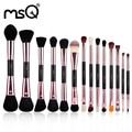 MSQ Новое Поступление Одноместный Макияж Кисти Розового Золота Двусторонний макияж Кисти Синтетические Волосы 14 Шт. Можете Выбрать