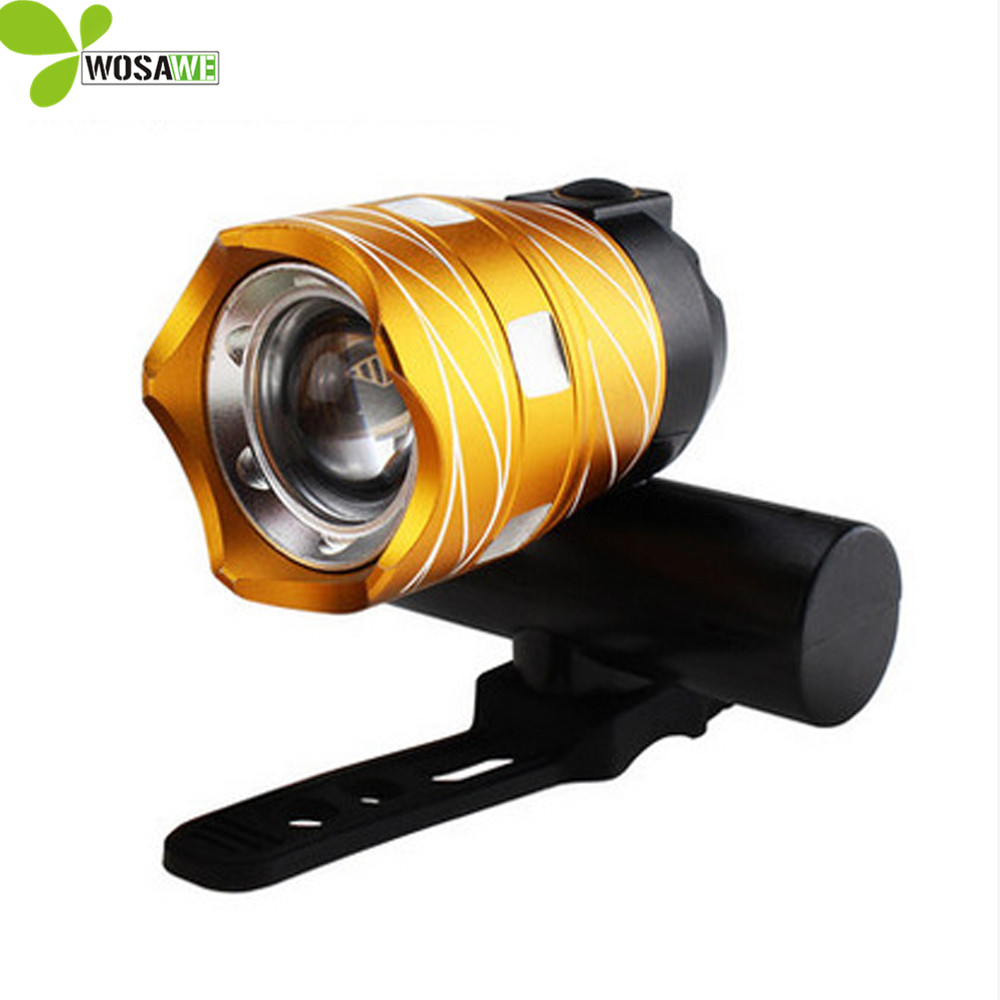WOSAWE 2000 Lumens bike Lights USB Rechargeable Built-in Battery Aluminum Alloy T6 LED beard Cycling Light Torch bicycle lights lumens