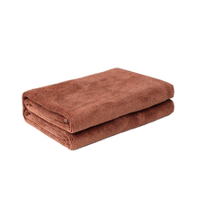Brown car microfiber washing towel Strong water absorption No crumb, no pilling 3 pieces/pack Interior/body clean Car cleaning