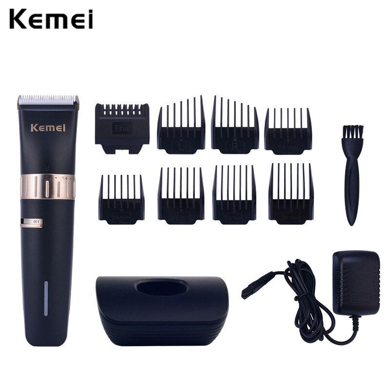 Kemei Rechargeable Hair Clipper Trimmer Shaver Men Beard Trimmer Precise Salon Hair Cutting Machine Haircut Trimmer Haircutting