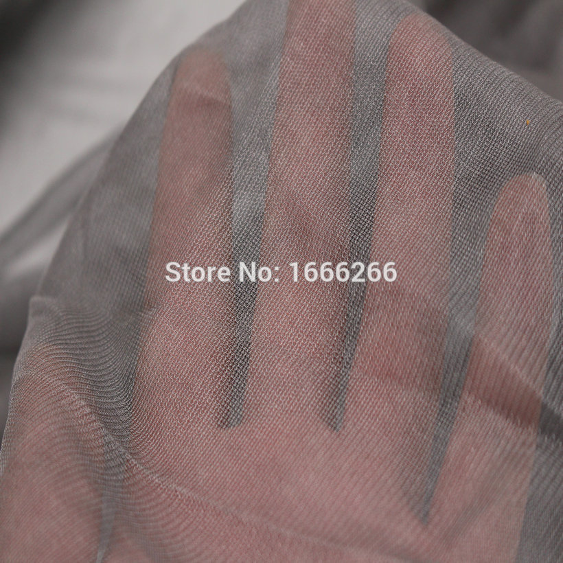 Blocking EMF EMI RF RFID Shielding Anti Radiation Protection Fabric Used For Bed Canopy Mosquito Net