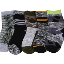 5 pairs Autumn Winter Children Socks Cotton High Quality Thick Camouflage Student Baby