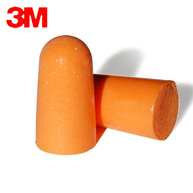 10pairs 3M 1100 Authentic  Slow Reboun Foam Soft corded EarPlugs Noise Reduction Norope Earplugs Swimming Protective earmuffs