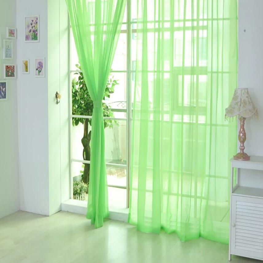 1 StÜcke Reine Farbe Tüll Moderne Tür Fenster Offen Translucidus Vorhang Drapieren Steuerung Sheer Schal Volants Wohnkultur 23apr 26