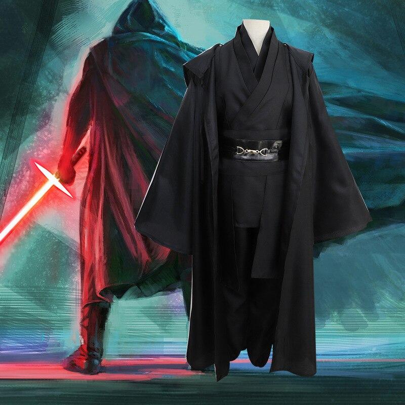 2019 7PCS New Star Wars Jedi Knight Anakin Cosplay Costume Men Women's Size Halloween Costume Men's Anime New Star War Cosplay