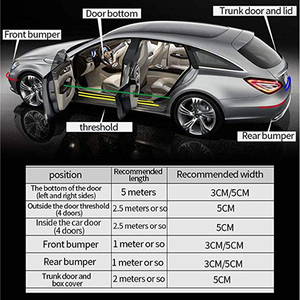 Image 5 - אוניברסלי דלת משמר פגוש גומי מגן קדמי אחורי דלת כניסת אדן שומר שפשוף צלחת עבור רוב מכוניות 100% עמיד למים DB006