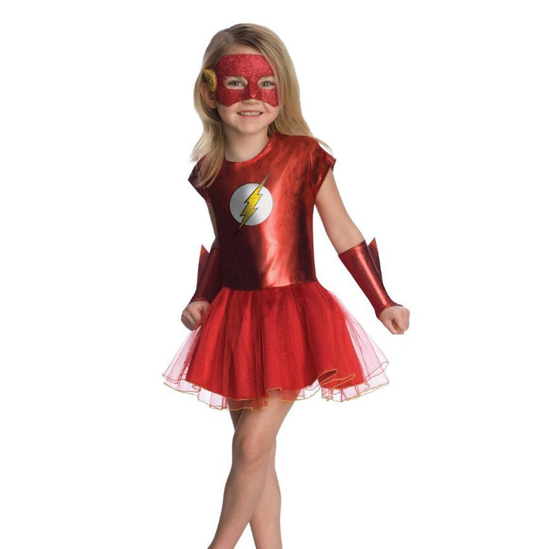 Justice League Girls Flash Costume Comic Kids The Flash Cosplay Movie Film Role Play Costumes Children Girls Hero Fancy Dress the human league the human league crash dare 2 cd