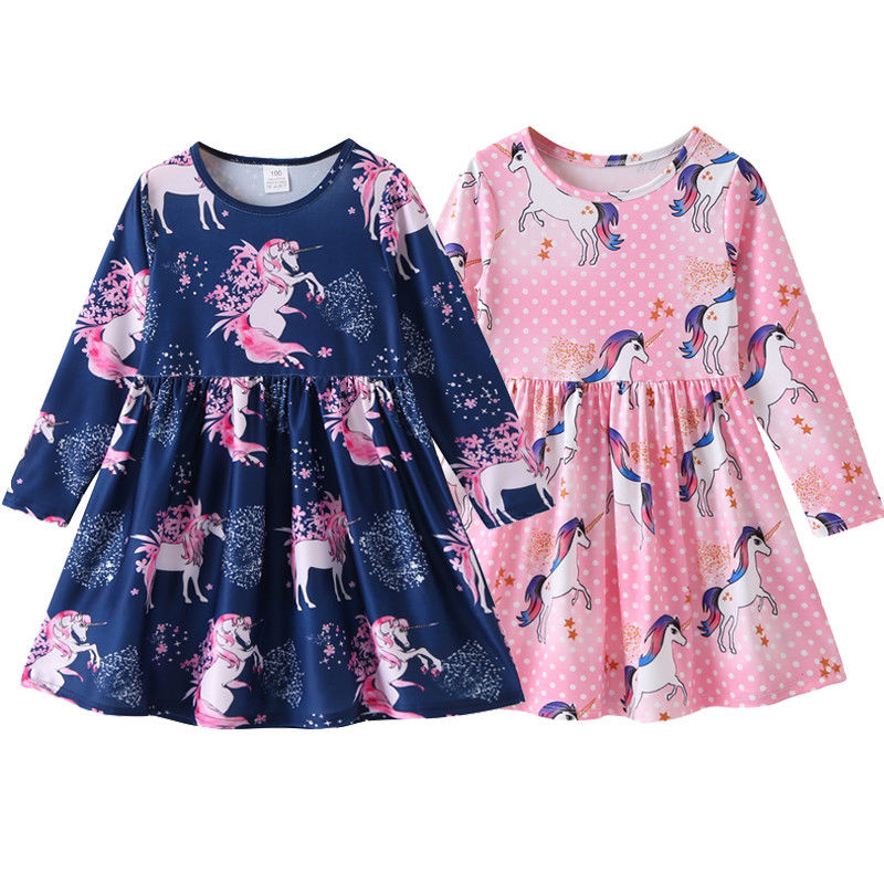 unicorn dress girl party clothes kids dresses for girls