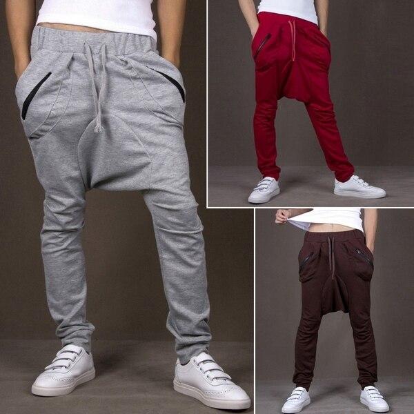 Высокое качество модные мужские свободного покроя хип-хоп модный слаксы гарем брюки мешковатые штаны бесплатная доставка R68 азии / Tag размер M-XXL