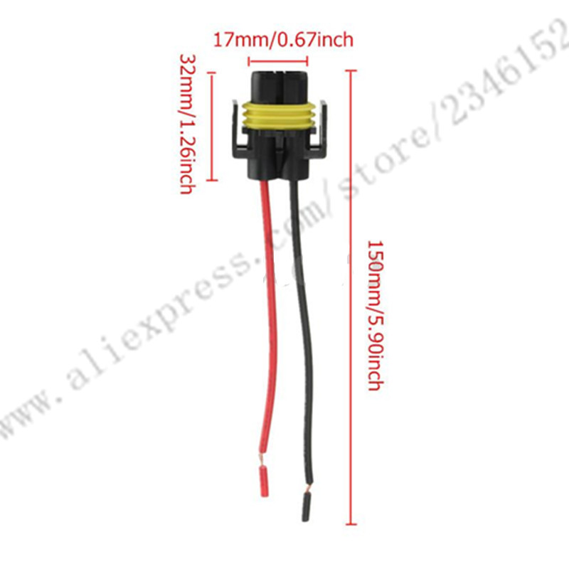font b H11 b font Female Adapter Wiring Harness font b Sockets b font Wire online get cheap h11 connector socket aliexpress com alibaba group  at reclaimingppi.co