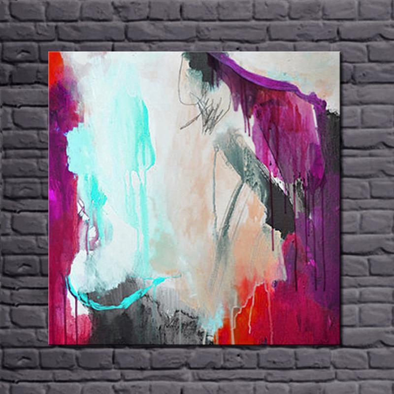 №2016 más nuevos diseños 100% hecho a mano pintura al óleo abstracta ...