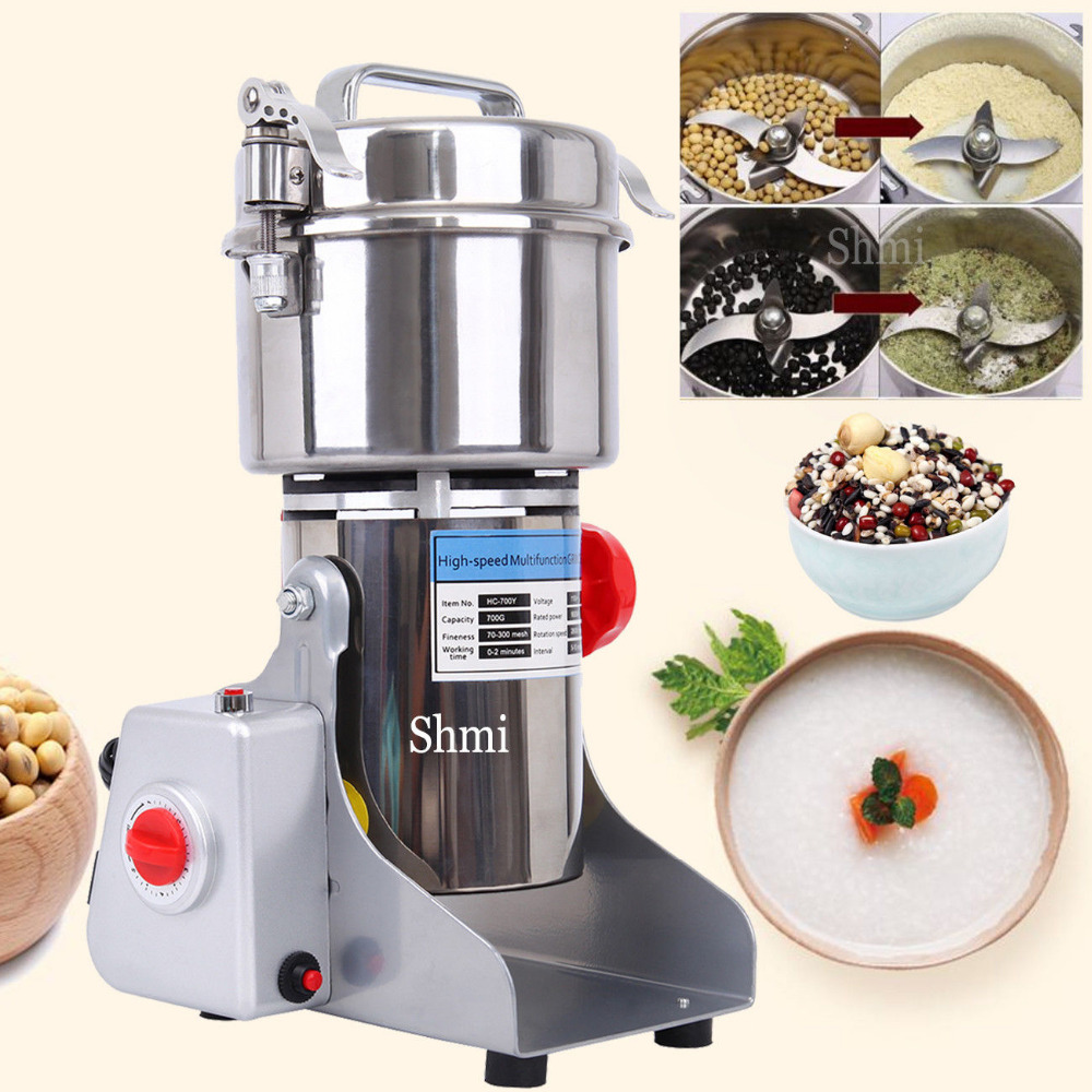 (Shipping From US ) 700g High Speed Electric Herb Grain Grinder Cereal Mill Flour Powder Machine