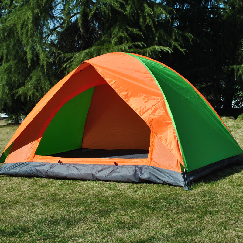 ФОТО 150*200*110cm Double Layer 2 Person Rainproof Ourdoor Tourist Camping Tent  Ultralight Fishing Tents China Shop Online