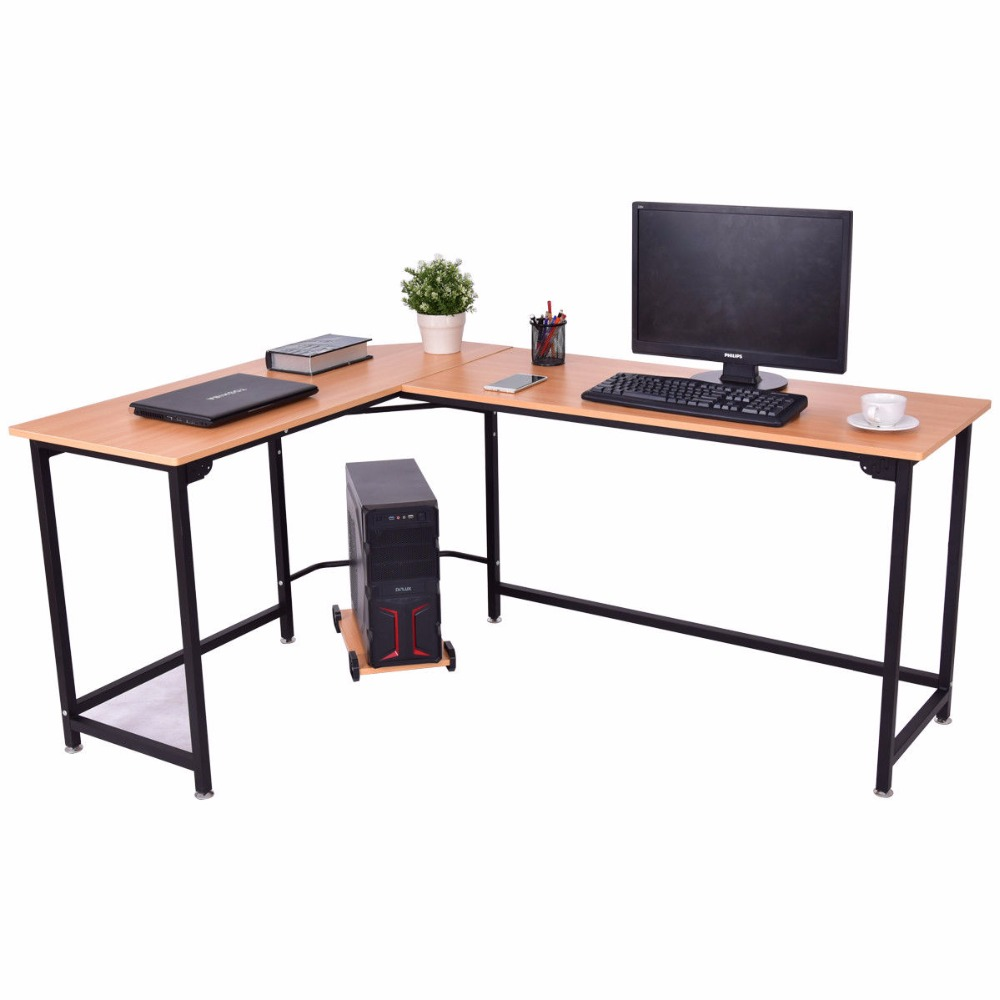 Goplus L Shaped Corner Computer Desk Pc Latop Study Table Modern Workstation Home Office Commercial Furniture Hw56370 On Aliexpress Alibaba Group