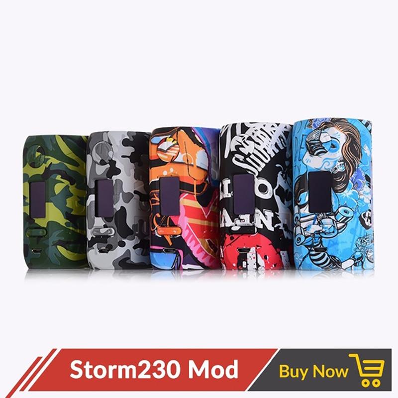 Vapeur tempête tempête 230 boîte Mod sans 18650 batterie dérivation 200 W VW TCR Vapes mode Mod fit Cigarette électronique RTA Storm230