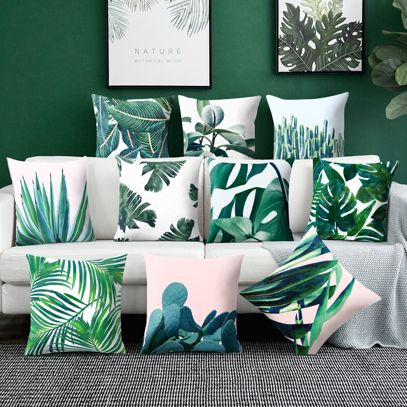 Throw pillows Tropical Decoration Cactus Cushion Cover Polyester Pillow Sofa Home Decorative Pillowcase Household Pillowcase