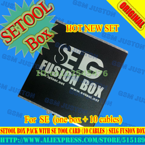 2016 version The Newest Setool box  Pack with SE Tool Card (10 cables ) SELG Fusion Box