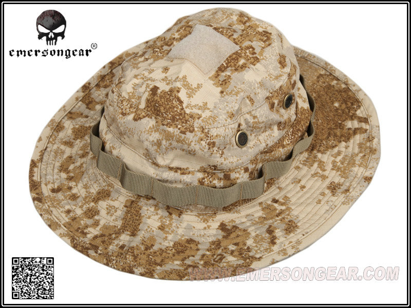 EMERSON Bucket Hat Tactical Hunting Fishing Outdoor Cap - Wide Brim  Military Boonie Hat Sandstorm Hunting Caps 5764a0da811f