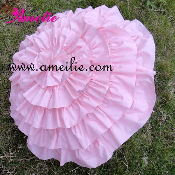 e31633812c7d6 US $17.88 |Pink Frilly Parasols Cancan Wedding Bridal Parasol Umbrella-in  Bridal Umbrellas from Weddings & Events on Aliexpress.com | Alibaba Group