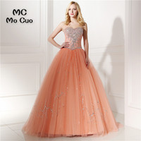 Bling Bling Ball Quinceanera Dress Prom dresses with Crystals Beaded Sweetheart dress for graduation Tulle Quinceanera Dresses