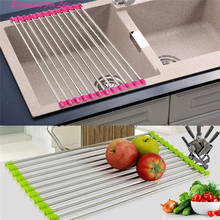 Sink Storage Dish Drying Rack Holder 2016 Wholesale High Quality Fruit Vegetable Drainer Colanders Kitchen  Free Shipping Dec 21
