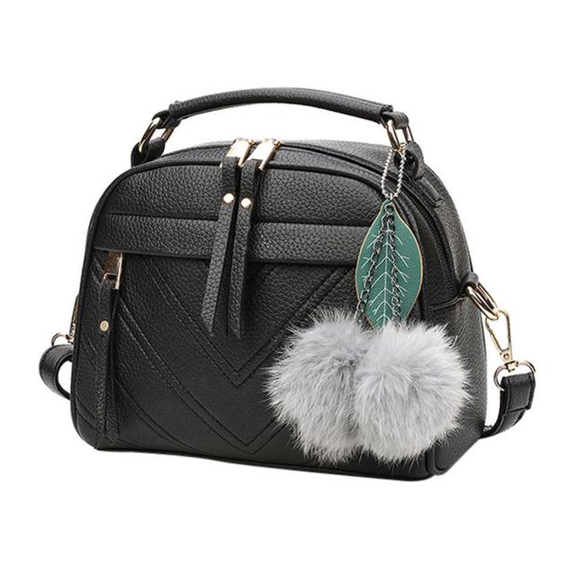 6947af8c83623 women messenger bags hairball new spring/summer 2018 inclined shoulder bag  women's leather handbags Bag lady hand bags bolsa A8