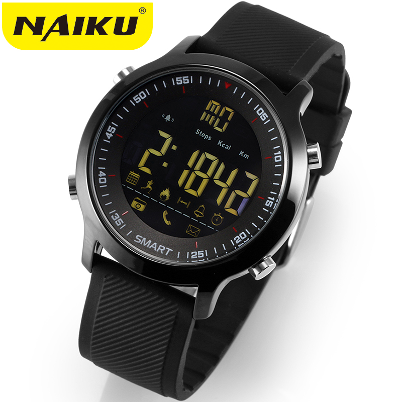 NAIKU Smart Watch Sport Waterproof pedometers Message Reminder Bluetooth Outdoor swimming men smartwatch for ios Android phone