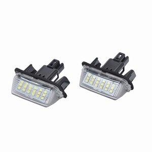 Image 2 - Lâmpadas led para carros substituição direta de 2x 18led branco luzes da placa de licença para toyota yaris acessórios do carro