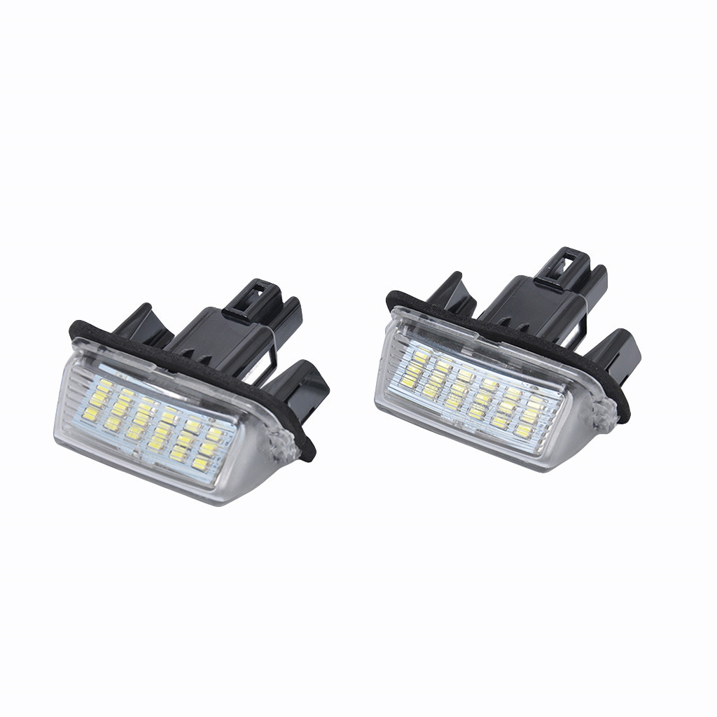Image 2 - LED Light Bulbs For Cars Direct Replacement Of White 2X 18LED License Plate Lights For Toyota Yaris Car Accessories-in Signal Lamp from Automobiles & Motorcycles