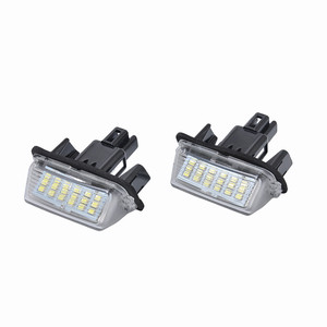 Image 2 - LED Light Bulbs For Cars Direct Replacement Of White 2X 18LED License Plate Lights For Toyota Yaris Car Accessories