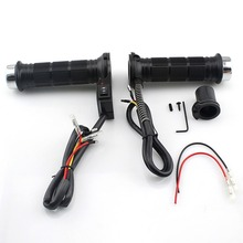 Professional One Pair of DC 12V Motorcycle Heated Grips Hot Warm Handlebar with Switch Universal Motorbike