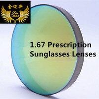 Quality Myopia 1 67 Index Colouring Lenses Anti Scratch Uv400 Protec Near Sight Super Thin Prescription