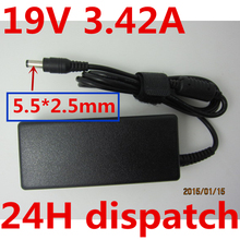 HSW quality 19V 3.42A 65W 5.5*2.5mm AC Power Adapter For Asus Toshiba f3 x55 A3 A8 F6 F8 F83CR X50 Z9 S1 ADP-65AW Laptop charge