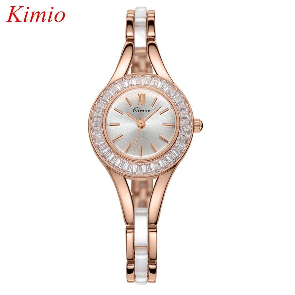 ФОТО Kimio Top Luxury Fashion Brand High Quality Crystal Diamond watches Women Waterproof Ladies Ceramic Bracelet quartz Wristwatches