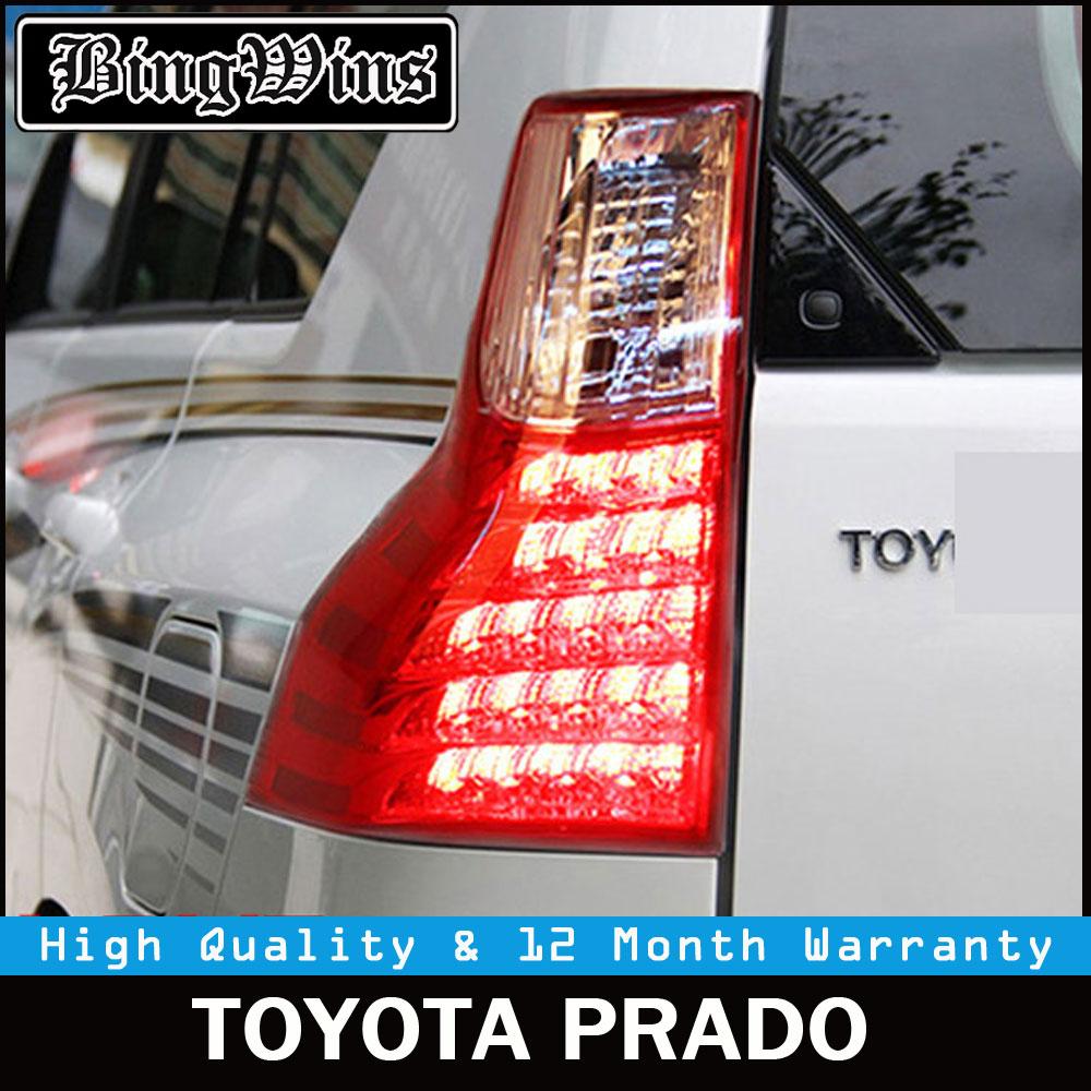 Car Tail Lights For Toyota Prado FJ150 2010 2016 Taillights LED Landcruiser Tail Light Rear Lamp DRL+Brake+Signal Auto Accessory