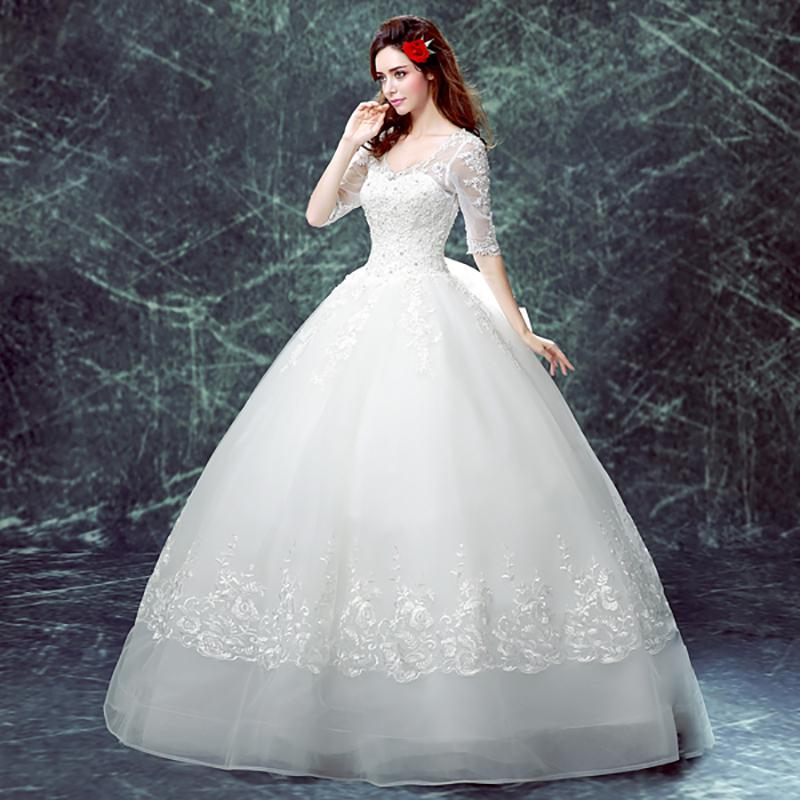 Giant Ball Gown Wedding Dress: Plus Size Ball Gown Wedding Dress Embroidery Sequined Big