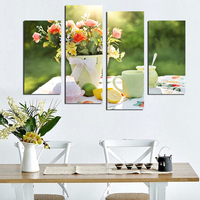 4 PCS Coffee Cup Kitchen Painting On Canvas Large HD Poster Home Decor Wall Art For