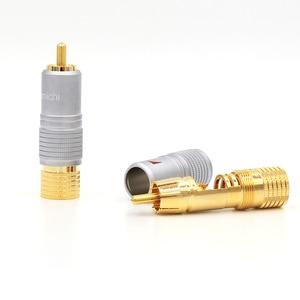 Image 2 - Nakamichi RCAปลั๊กขั้วต่อ24Kทองชุบ + ฟรี + 100% ใหม่