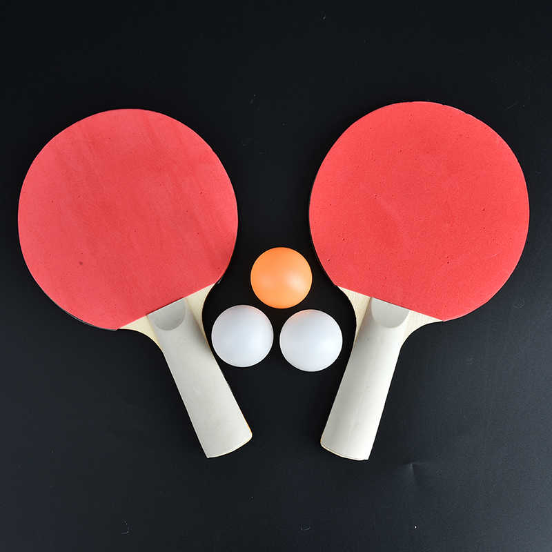 1 Pair Child dual table tennis pingpong racket baby sports child kids sports toy Top Recommended with 3Pcs Balls