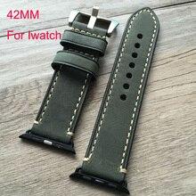 42 мм кожаный ремешок, Ремешок для часов iwatch apple , часы умные часы с аксессуарами разъем