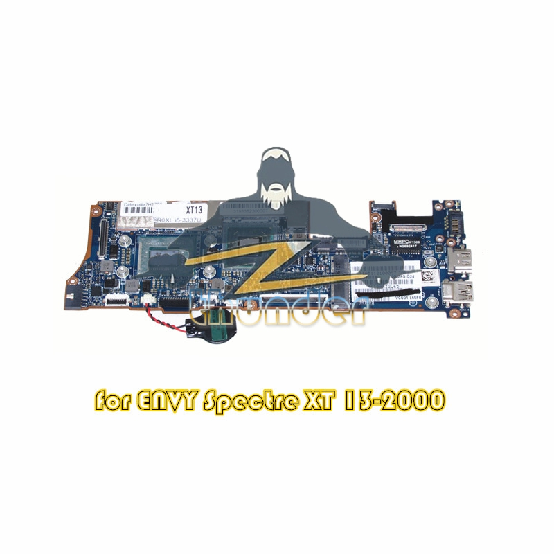 714759-501 LA-8554P for HP ENVY Spectre XT 13-2000 laptop motherboard i5-3337U HM76 DDR3