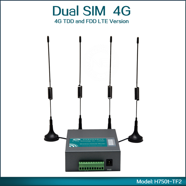 4G TDD and FDD LTE Portable Router with SIM Card ( Model: H750t-TF2 )